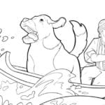 Canoe Coloring Page from The Call of The Wild