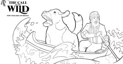 feature canoe coloring page