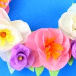 Spring Crepe Paper Flower Wreath Craft