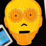 Star Wars Inspired C3PO Torn Paper Craft