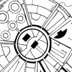 Free Printable Millennium Falcon Coloring Page