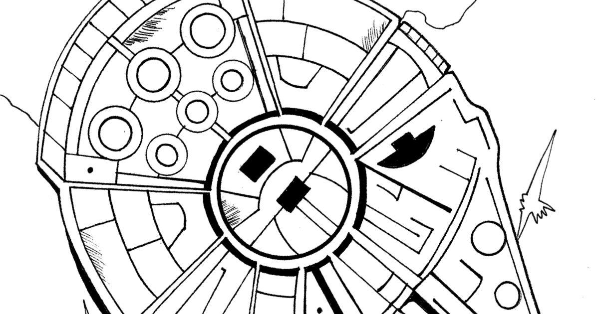 Free Printable Millennium Falcon Coloring Page | Mama ...