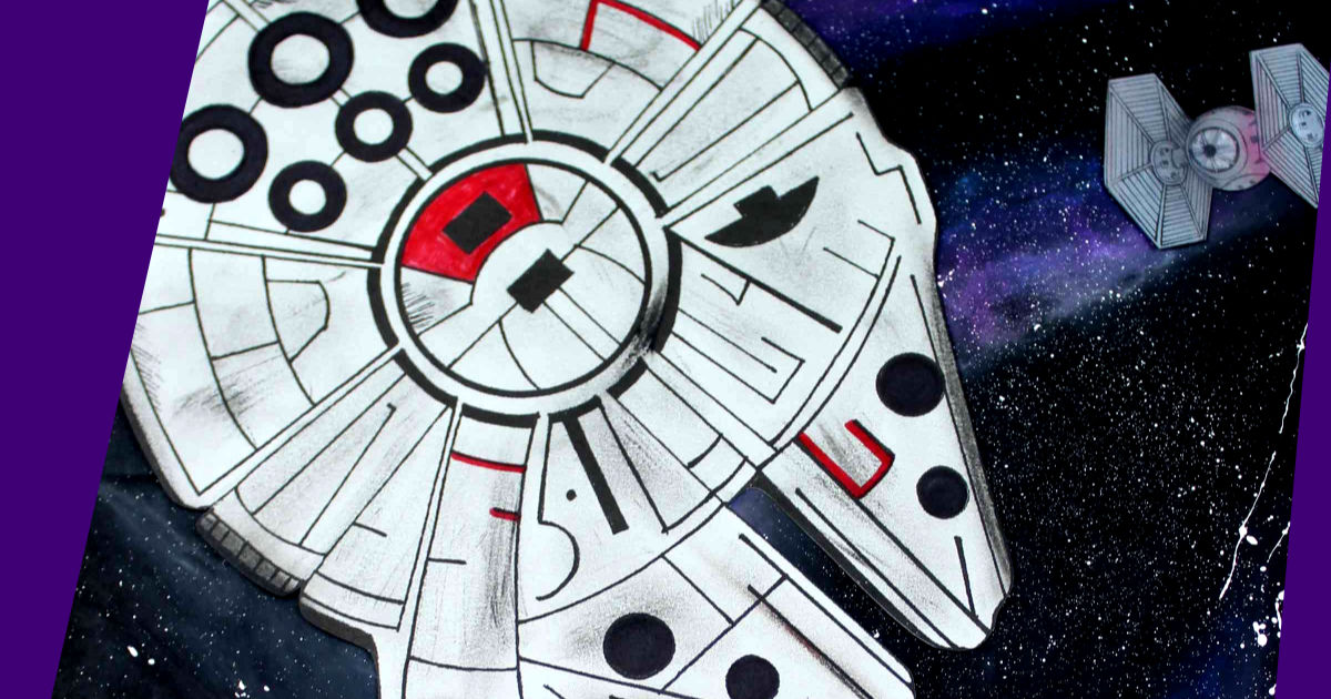 feature millennium falcon galaxy craft