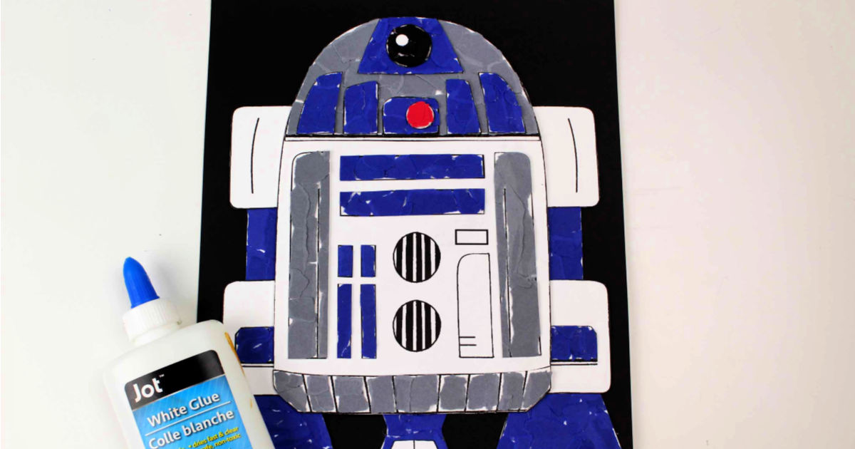 feature r2d2 torn paper craft