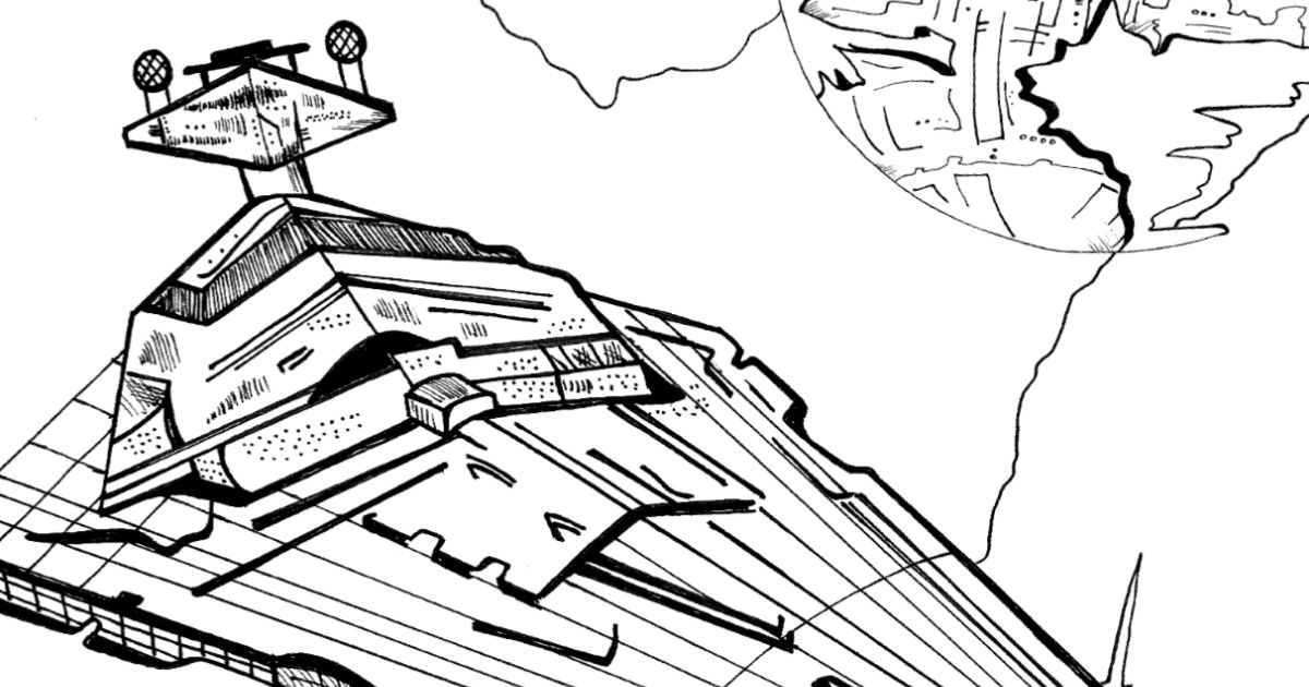 Free Printable Imperial Star Destroyer Coloring Page ...