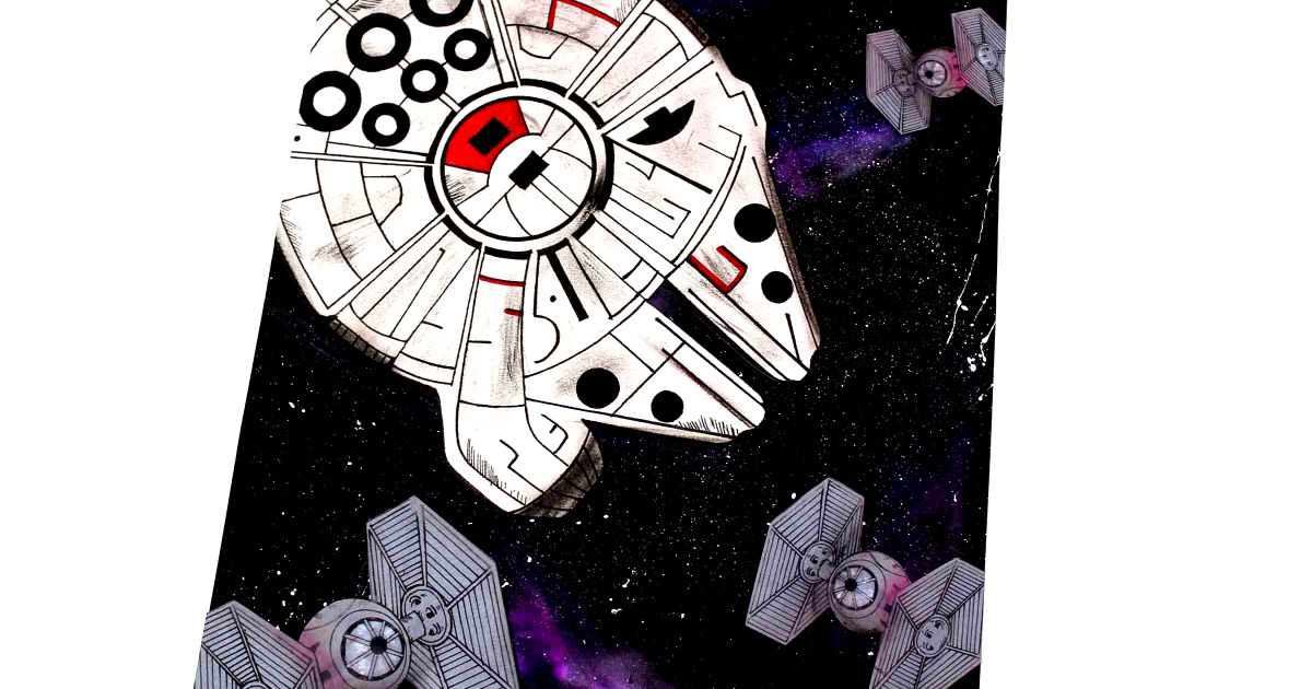 feature star wars millennium falcon galaxy craft