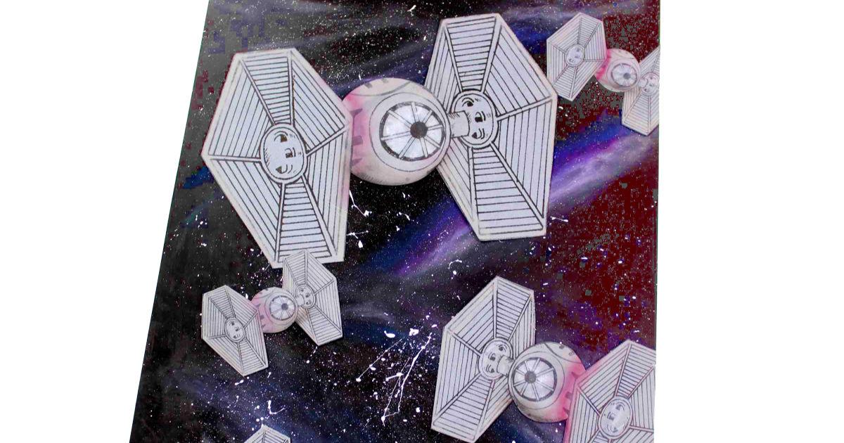 feature tie fighter galaxy art