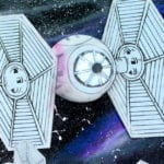 TIE Fighter Galaxy Craft w/ Free Template
