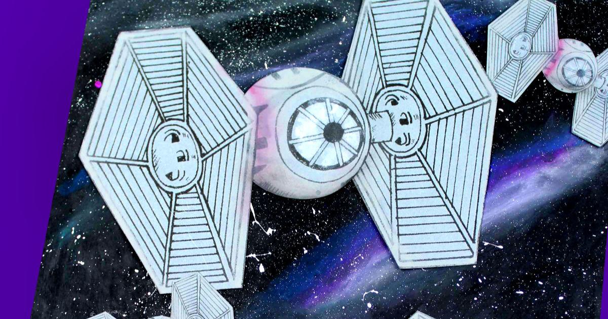 feature tie fighter galaxy craft