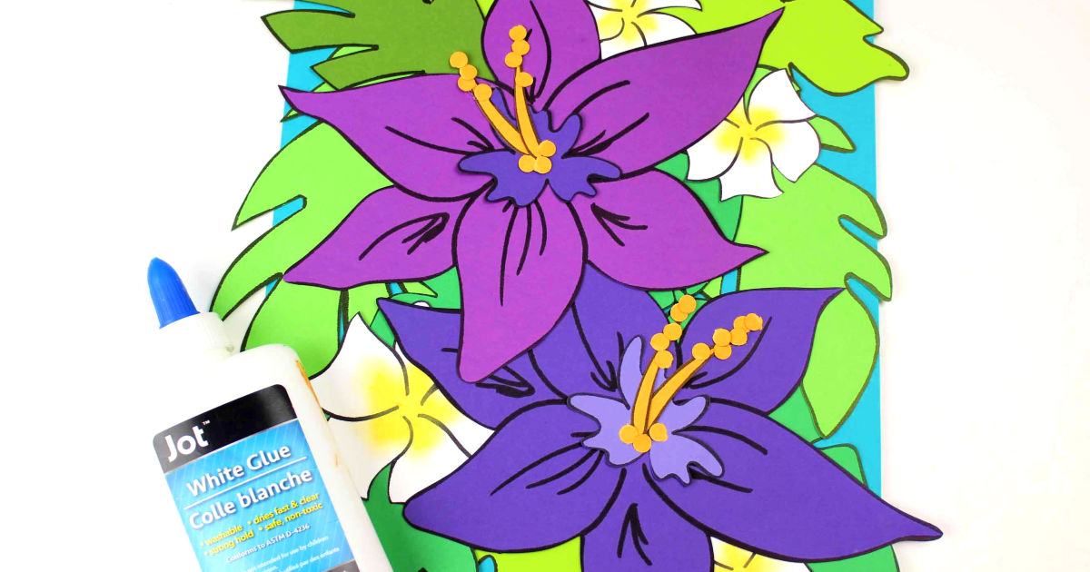 feature tropical flowers craft