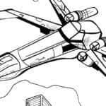 Rebel Alliance X-Wing Starfighter Coloring Page