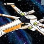 Star Wars X-Wing Galaxy Craft w/ Free Template