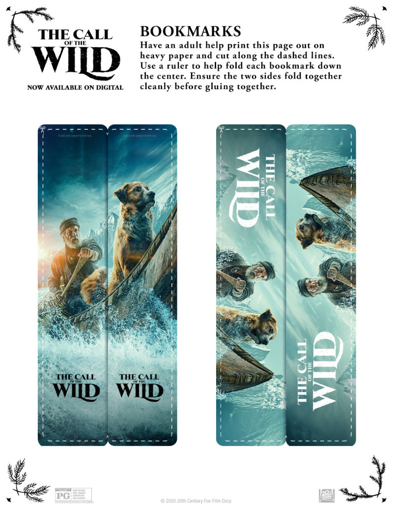 Free Printable Call of the Wild Bookmarks #Callofthewild #FreePrintable #PrintableBookmarks