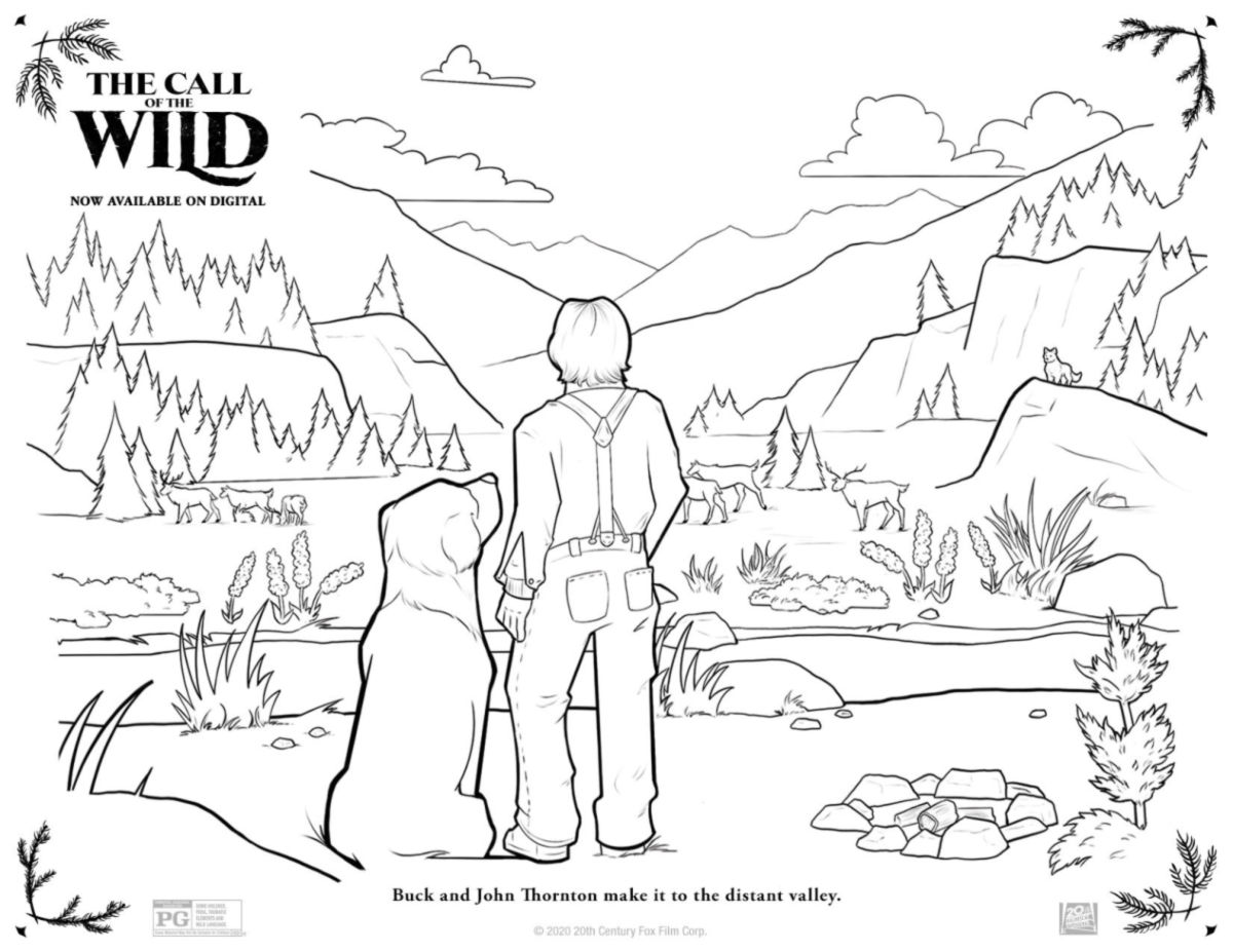 full call of the wild coloring page