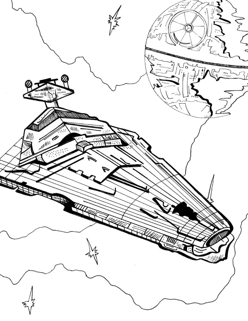 full size star destroyer coloring page