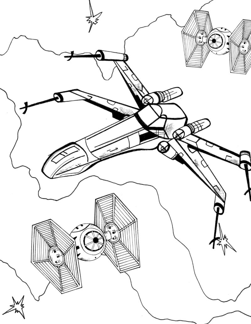 full size x-wing coloring page