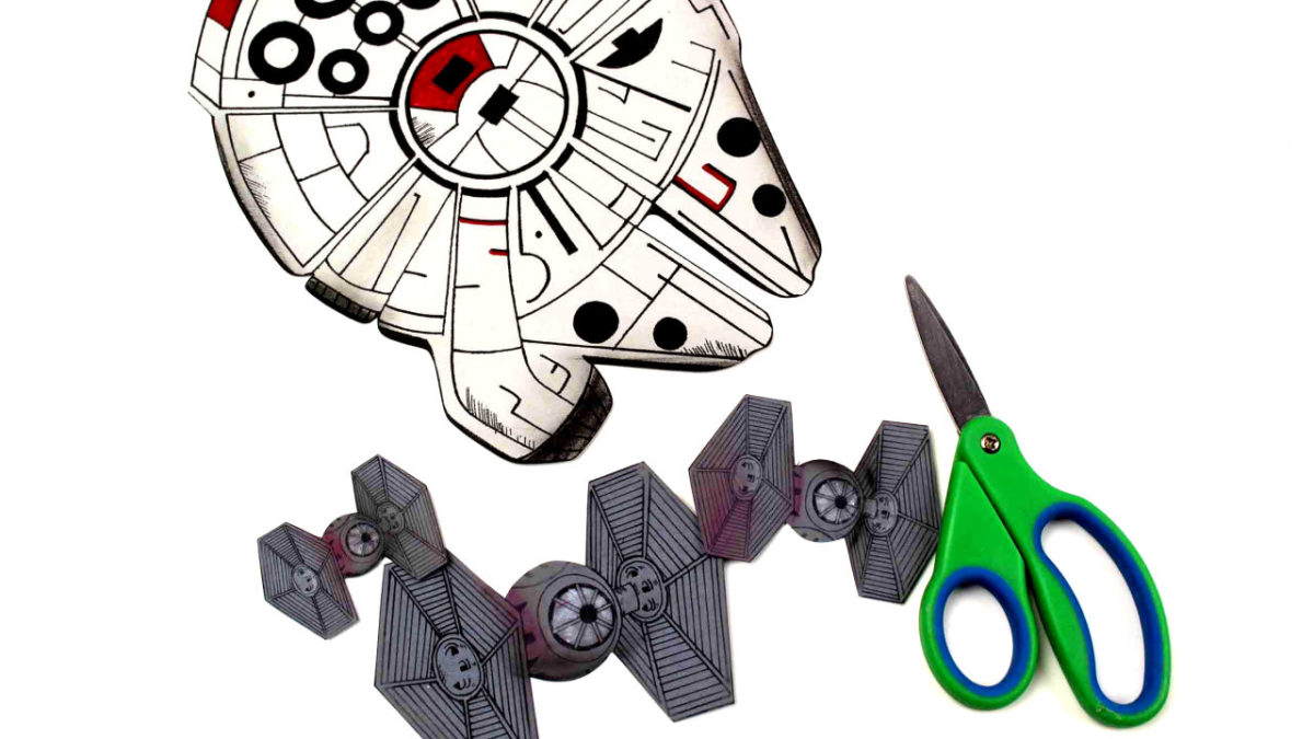millennium falcon and tie fighters for craft project
