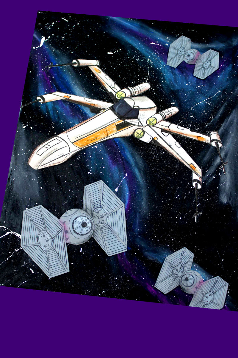 pin x-wing galaxy craft