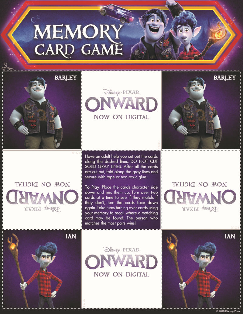 page 2 onward memory game