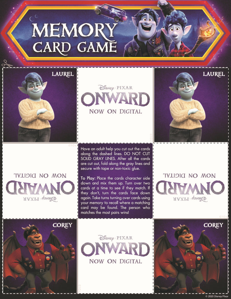 page 3 onward memory game