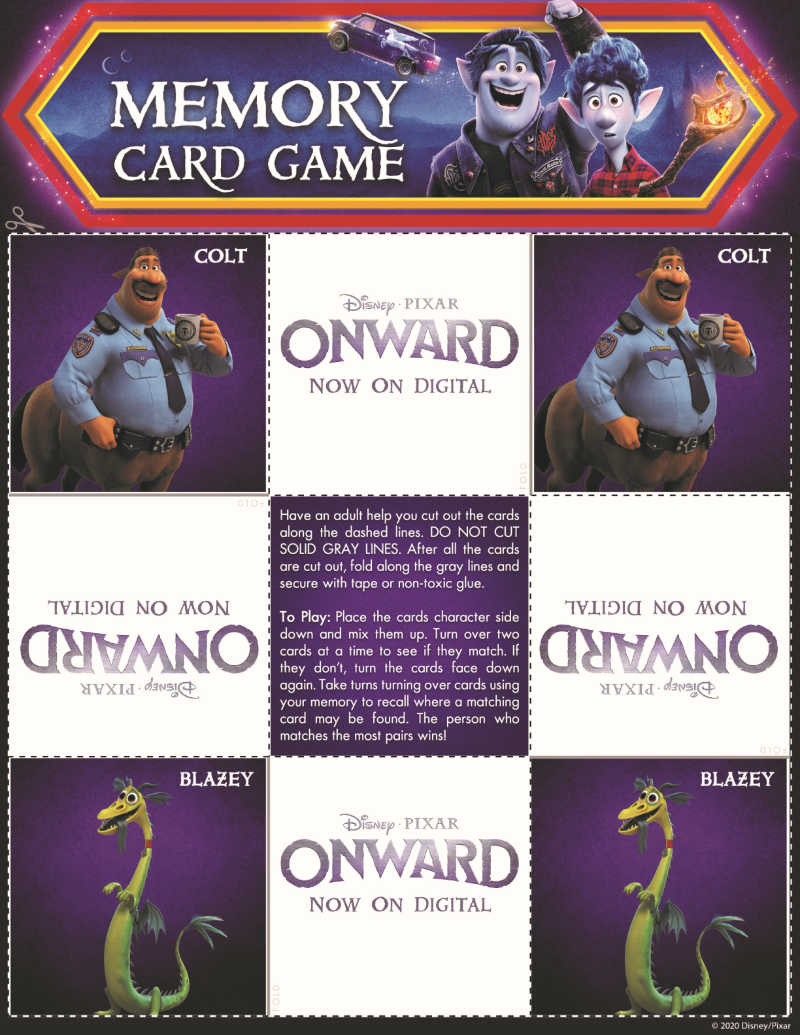 page 4 onward memory game