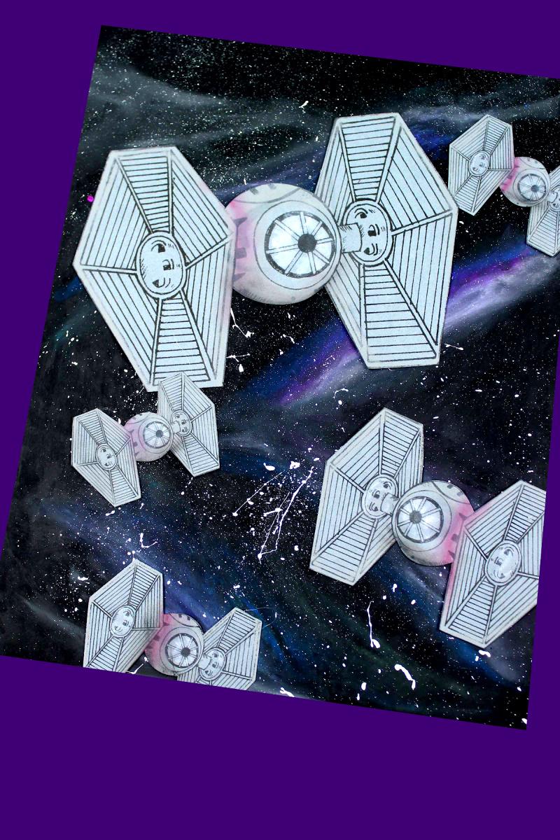 TIE Fighter Galaxy Craft with Free Template