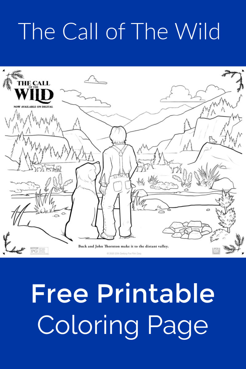 Free Printable Call of The Wild Coloring Page #CalloftheWild #TheCallOfTheWild #PrintableColoringPage