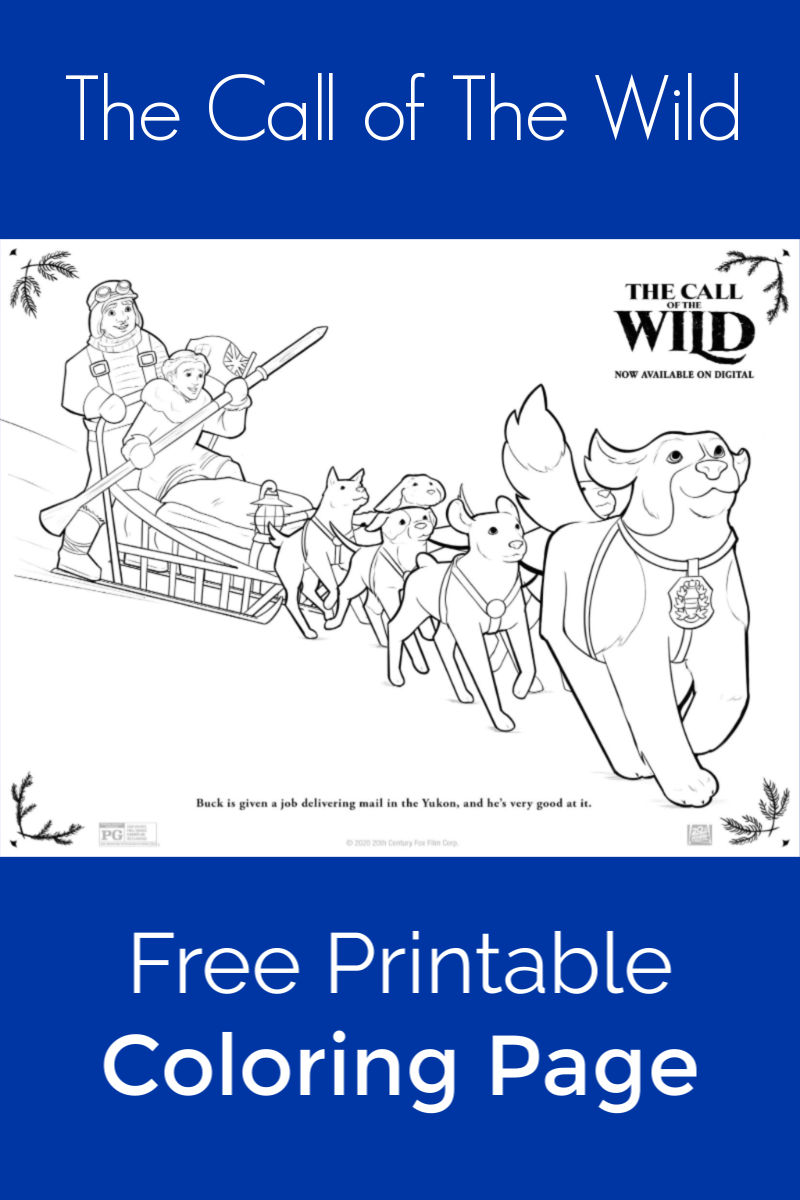 Dog Sled Coloring Page from The Call of The Wild #Callofthewild #TheCallOfTheWild #dogsled #callofthewildprintables #printablecoloringpage