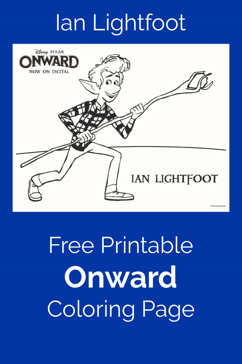 Pixar Onward Ian Lightfoot Coloring Page - free printable movie activity page #PixarOnward #FreePrintable #IanLightfoot #OnwardColoringPage