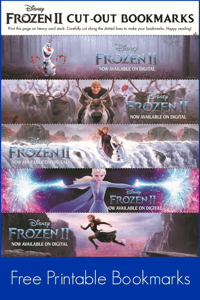 pin printable frozen bookmarks