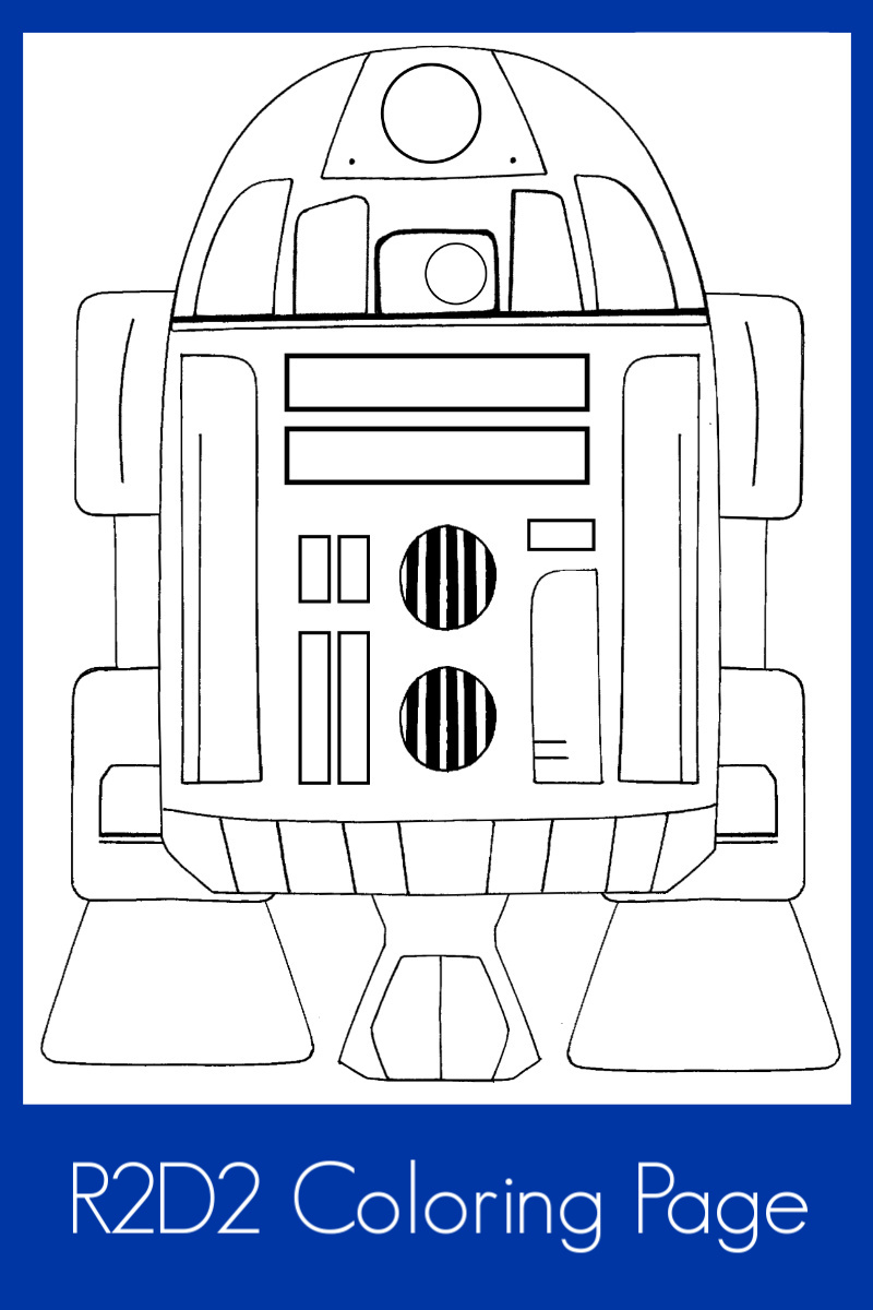 Free Printable Star Wars R2D2 Coloring Page #starwars #starwarscoloringpage #starwarsprintable #r2d2 #r2d2coloringpage