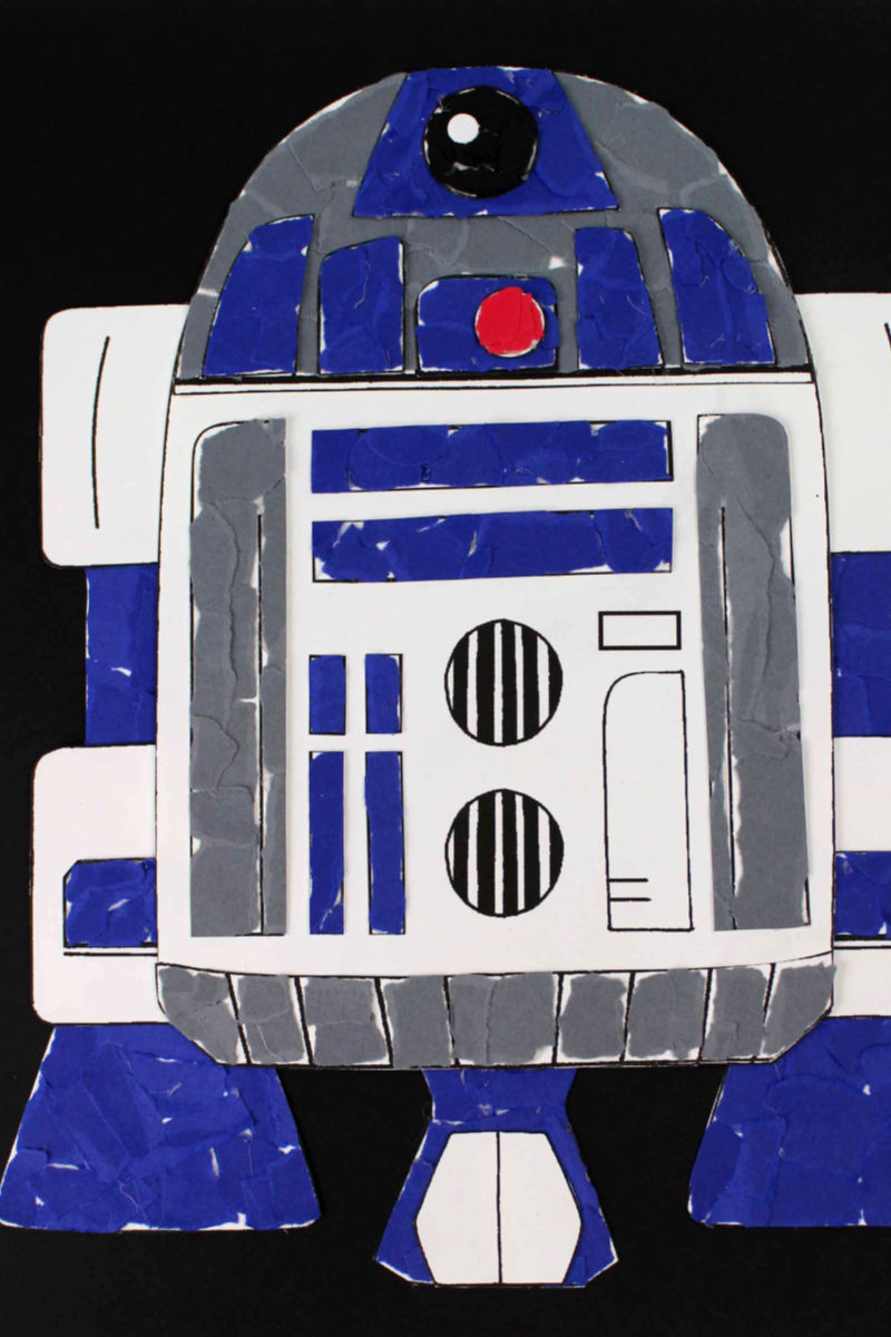 pin star wars r2d2 torn paper craft
