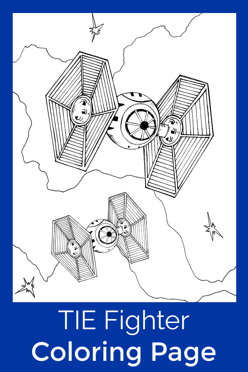Free Printable TIE Fighter Coloring Page