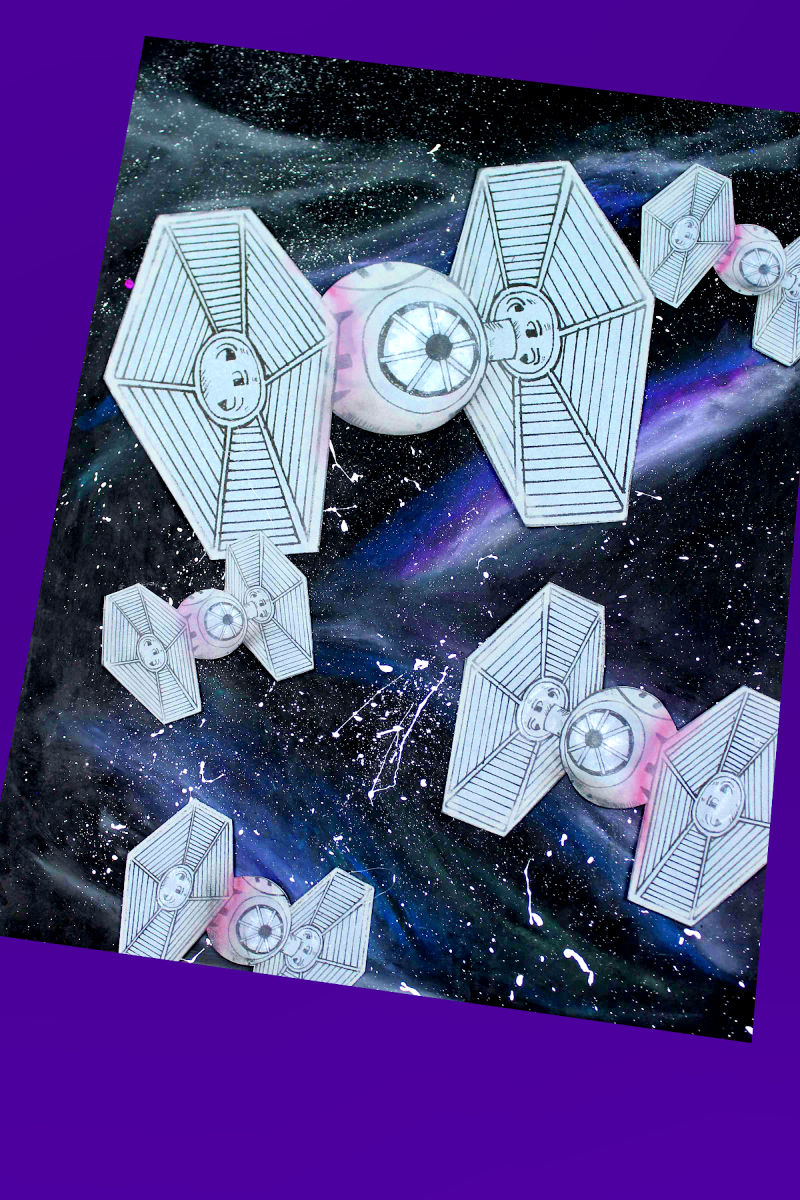 pin tie fighter galaxy craft