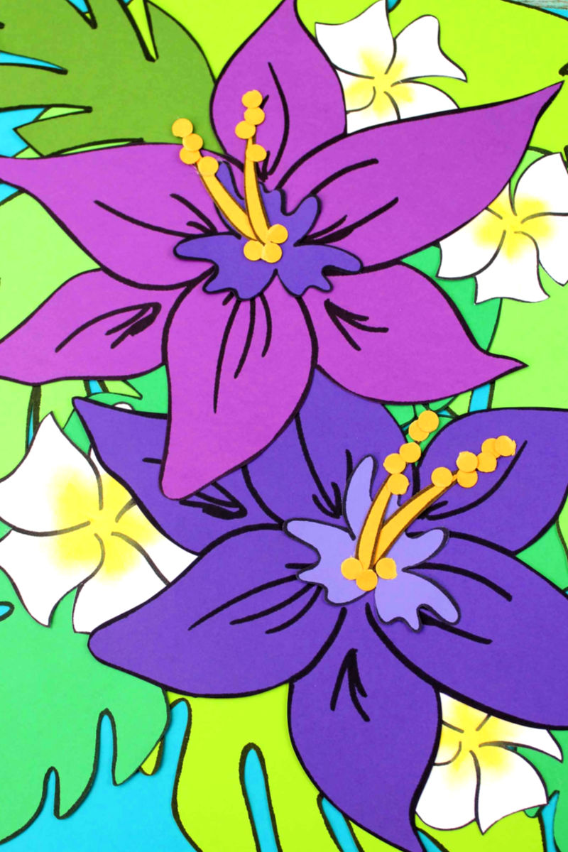 pin tropical flower craft