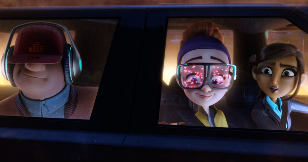 scene from spies in disguise