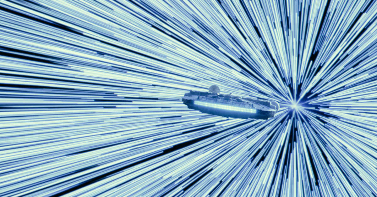 The Millenium Falcon in STAR WARS: EPISODE IX