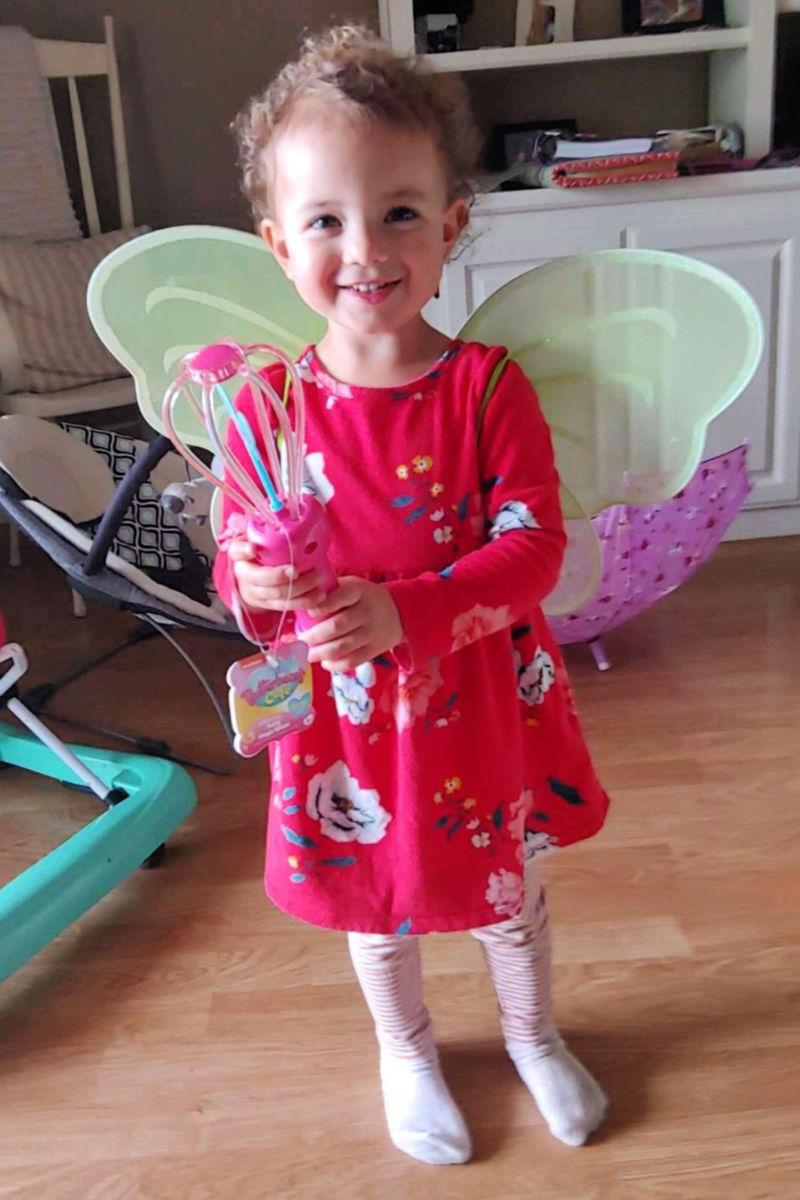 stella in butterbean fairy wings
