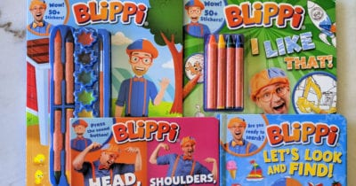 feature blippi activity books
