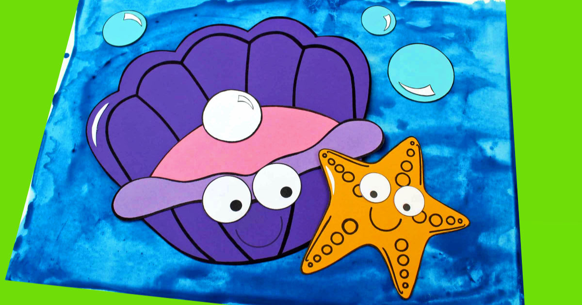 feature clam and starfish craft