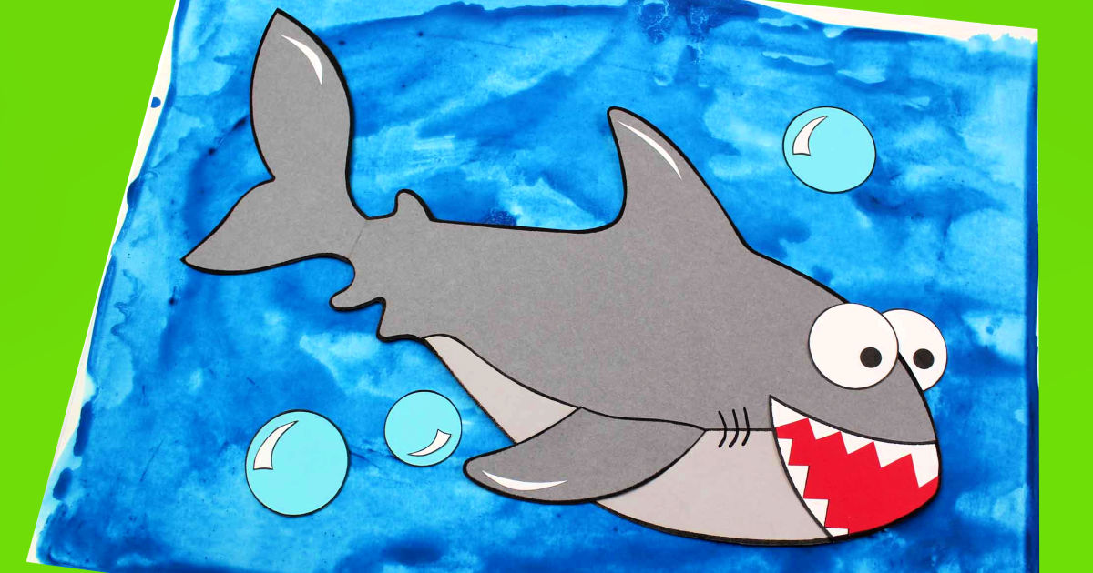 printable shark craft