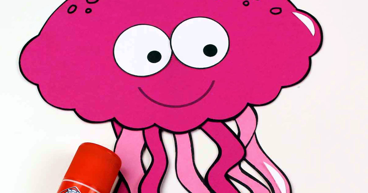 gluing a jellyfish craft