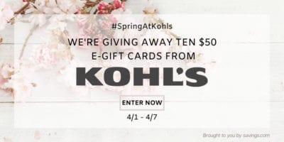 kohls giveaway for gift cards