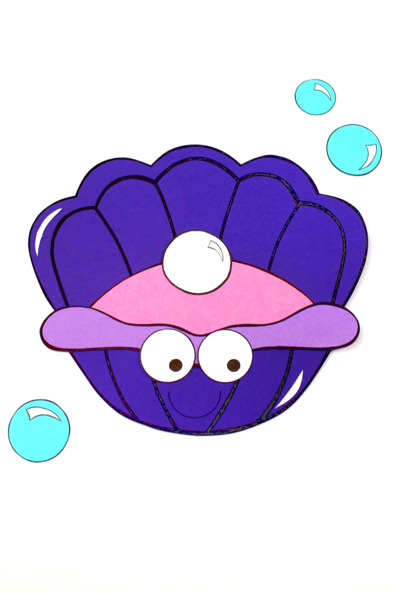 Paper Starfish and Clam Craft for Kids #ClamCraft #StarfishCraft #UnderTheSea