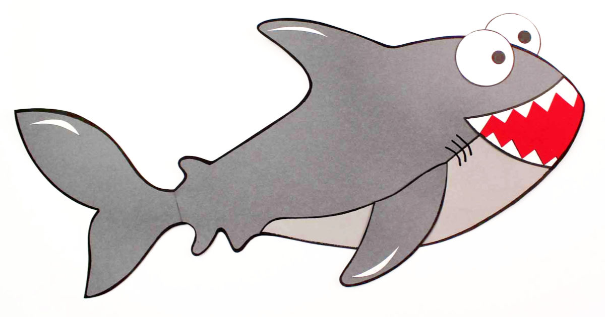 paper shark week craft