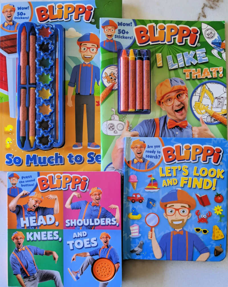 Blippi Activity Books for little kids #Blippi