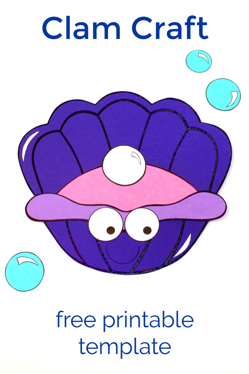 pin clam craft with template