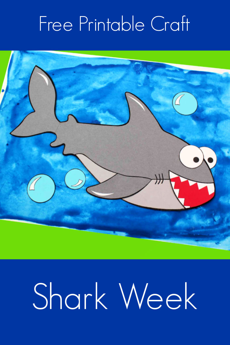 Free Printable Shark Craft for Shark Week #SharkWeek #SharkCraft #PrintableCraft