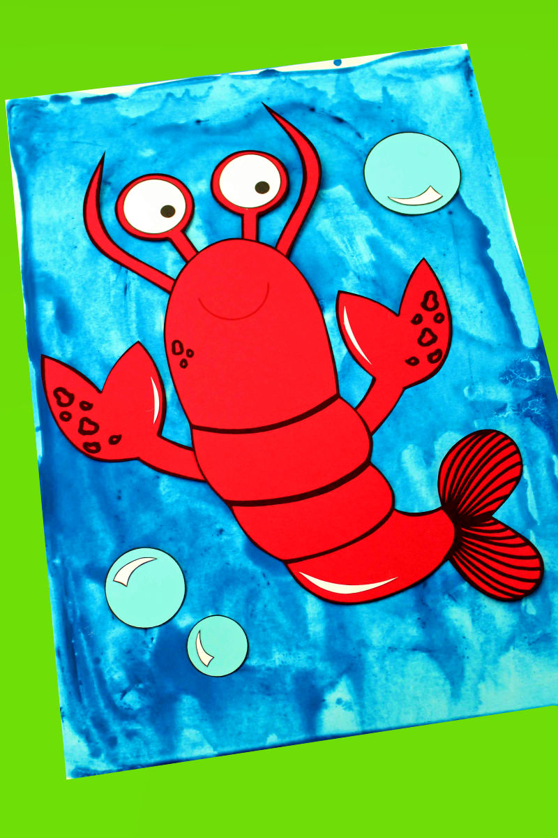 pin paper lobster craft