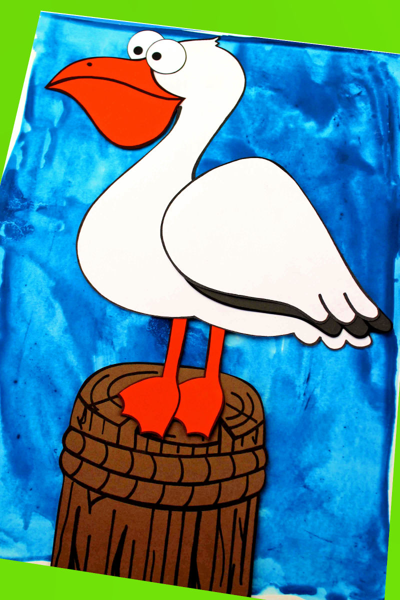 pin paper pelican craft for kids